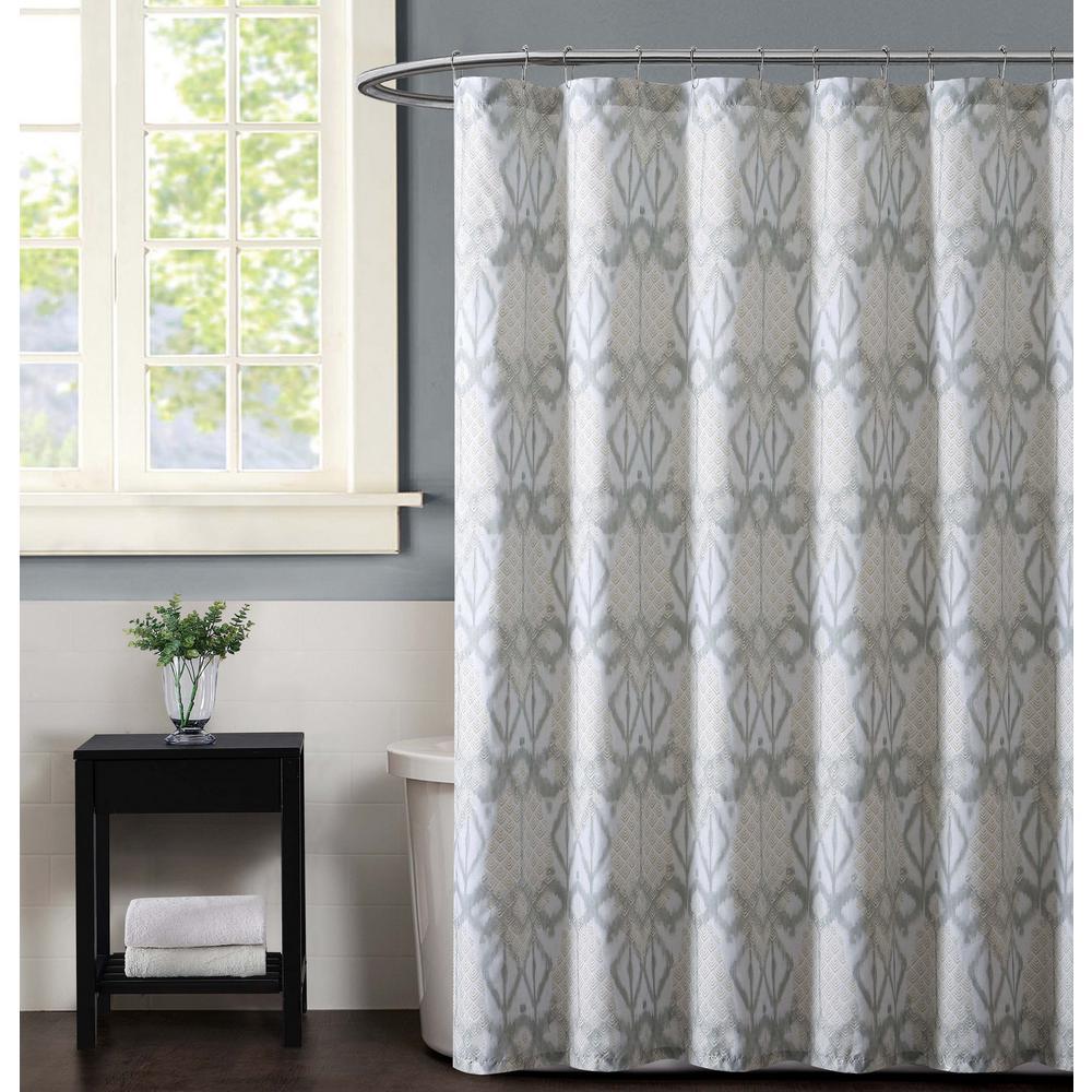 Christian Siriano Java 72 inch Neutral Shower Curtain
