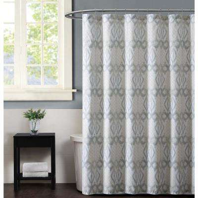 Java 72 in. Neutral Shower Curtain