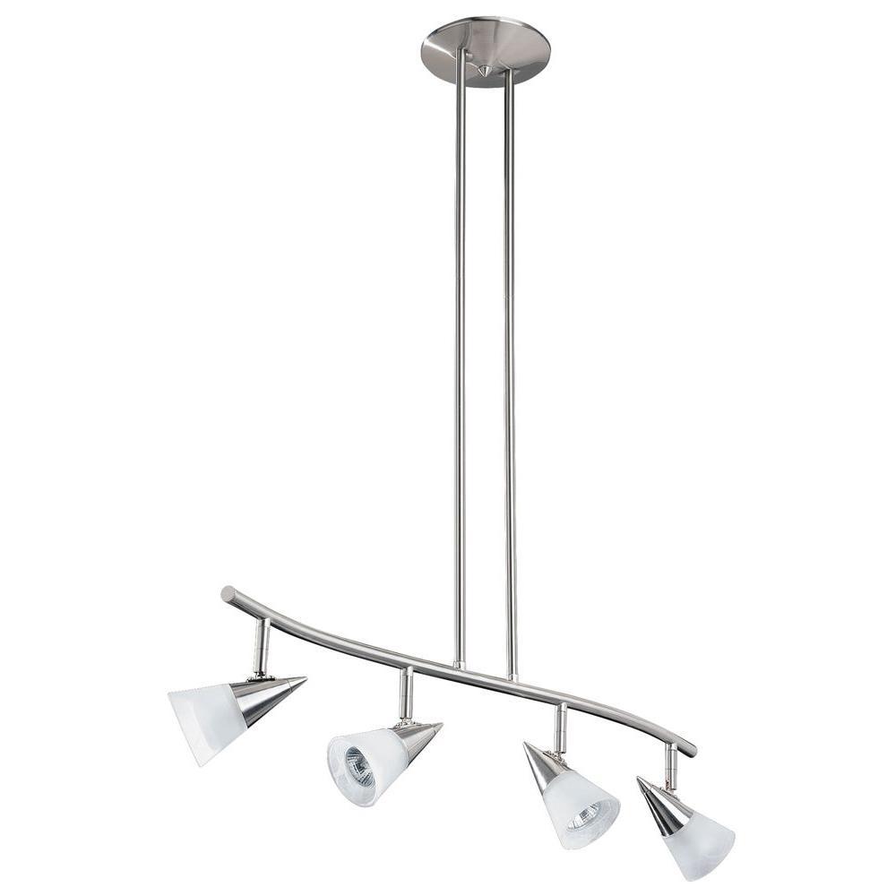 Filament Design Cassiopeia 4-Light Satin Nickel Track Lighting Kit
