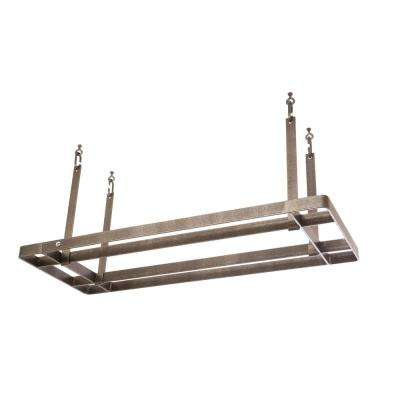 Handcrafted All Bars Ceiling Pot Rack with 12 Hooks Hammered Steel