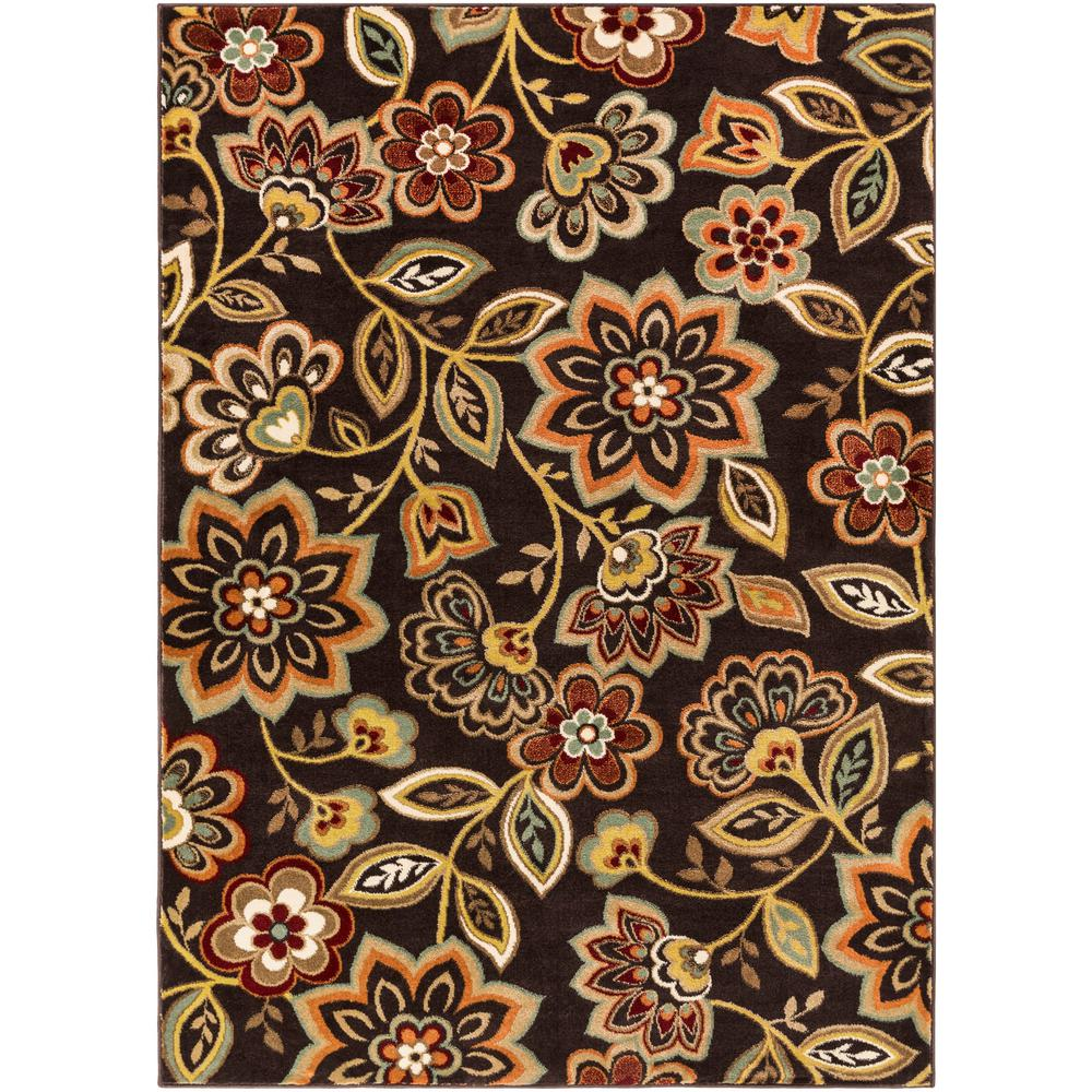 Crete Amara Chocolate Brown 5 ft. 3 in x 7 ft.