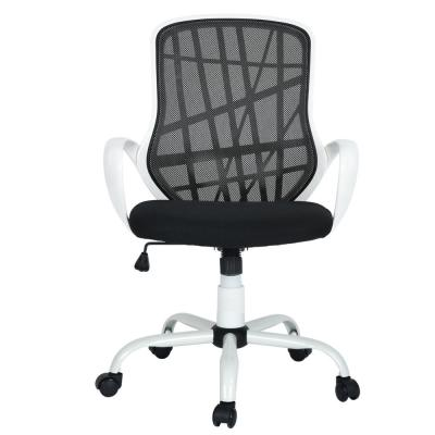 Desert White Black Mesh Back Office Chair