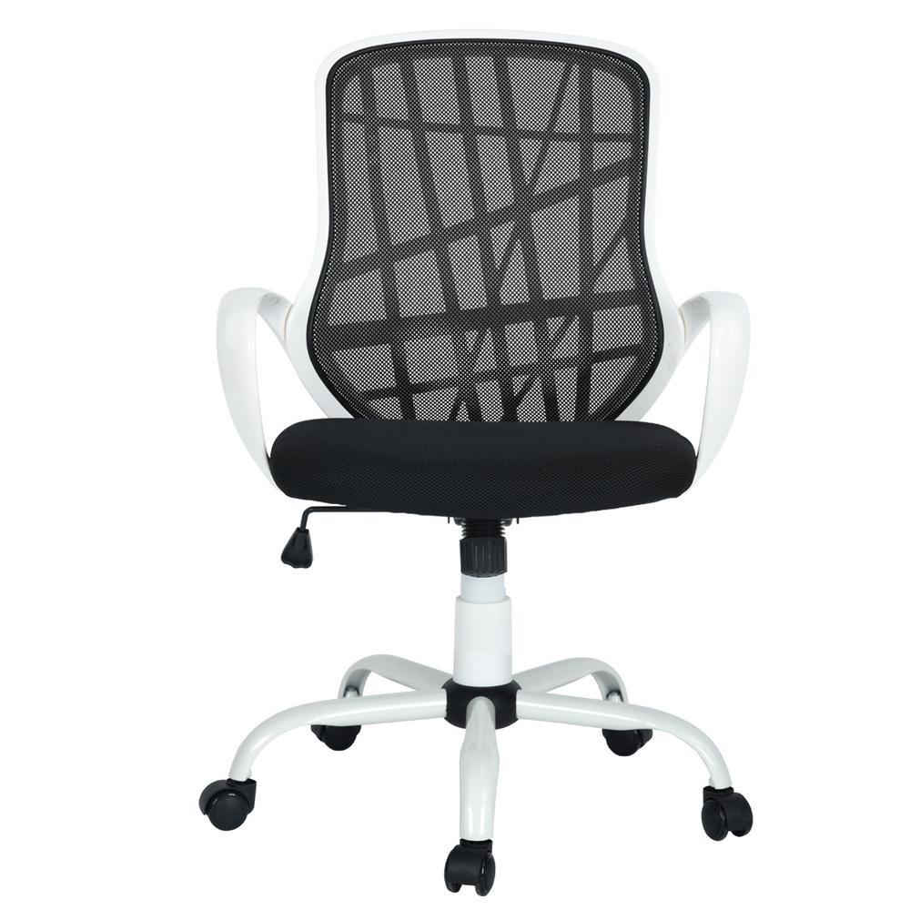 Desert White Black Mesh Back Office Chair