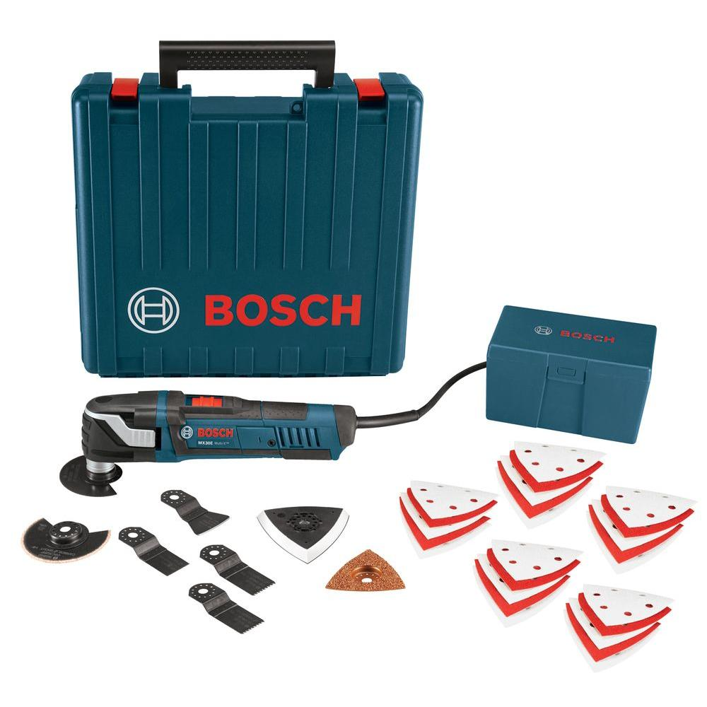 bosch 3 amp corded multi x oscillating tool kit 33 piece mx30ek 33 the home depot. Black Bedroom Furniture Sets. Home Design Ideas