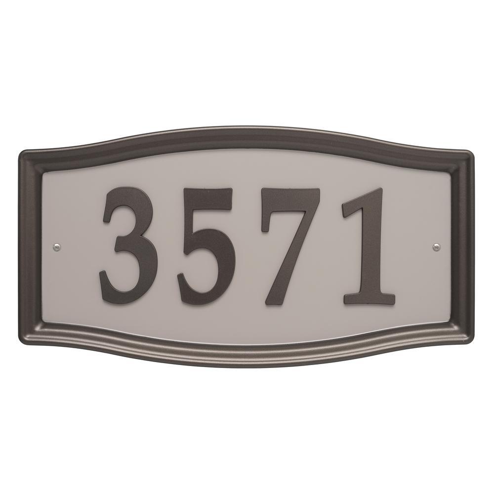 Rectangular Aged Bronze Address System