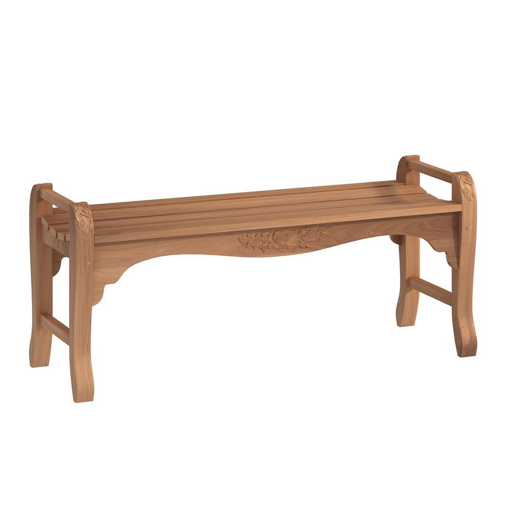 4 ft. Teakwood Outdoor Backless Bench