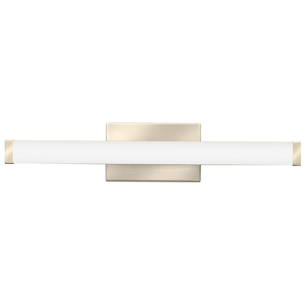 Lithonia Lighting 21.44 in. Brushed Nickel LED Vanity Light Bar Switchable Light Color