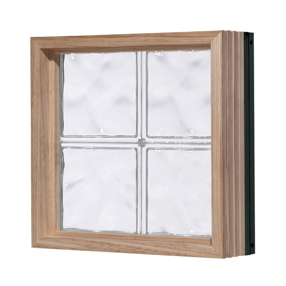 Pittsburgh Corning 32 in. x 16 in. LightWise Decora Pattern Aluminum-Clad Glass Block Window