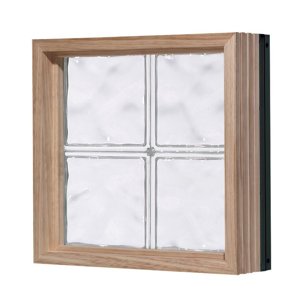 Pittsburgh Corning 32 in. x 24 in. LightWise Decora Pattern Aluminum-Clad Glass Block Window