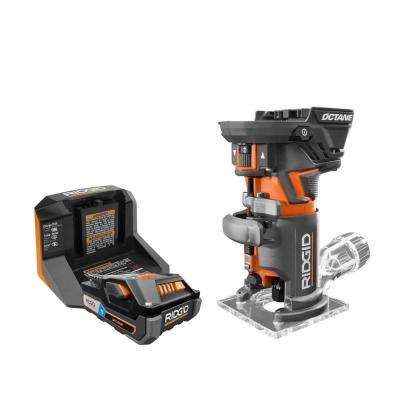 18-Volt OCTANE Cordless Brushless Compact Fixed Base Router Kit with (1) OCTANE Bluetooth 3.0 Ah Battery and Charger
