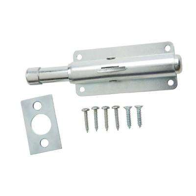 4 in. Zinc Foot Bolt Door Stop