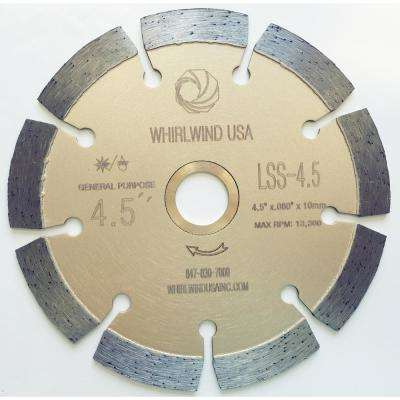 4.5 in. 9-Teeth Segmented Diamond Blade