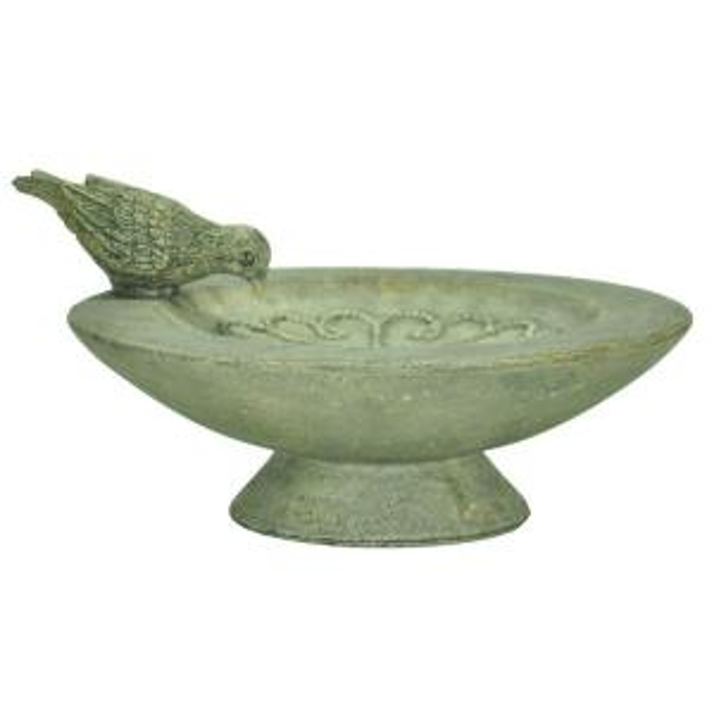 MPG Cast Stone Table Birdbath by MPG