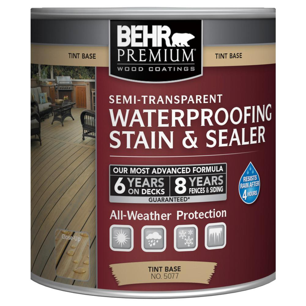 BEHR Premium 8 oz. White Base Semi-Transparent Waterproofing Exterior Wood Stain and Sealer Sample