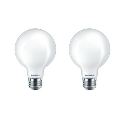 60-Watt Equivalent G25 Dimmable Daylight LED Light Bulb (2-Pack)