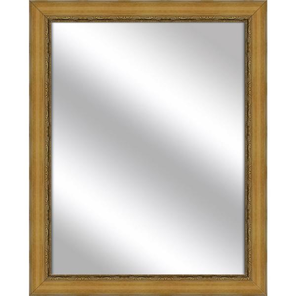 Large Rectangle Dark Gold Art Deco Mirror (52.25 in. H x 16.25 in. W)