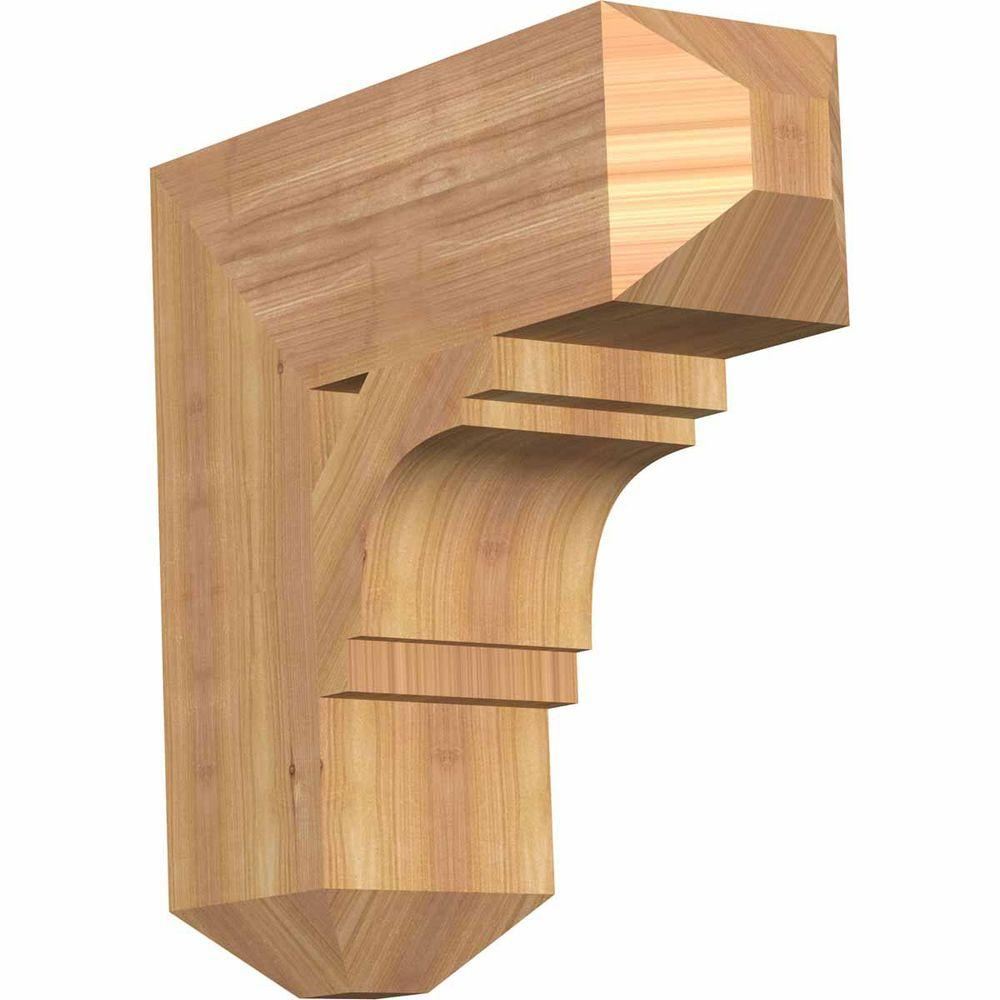Ekena Millwork 5.5 in. x 18 in. x 18 in. Western Red Cedar Merced Craftsman Smooth Bracket