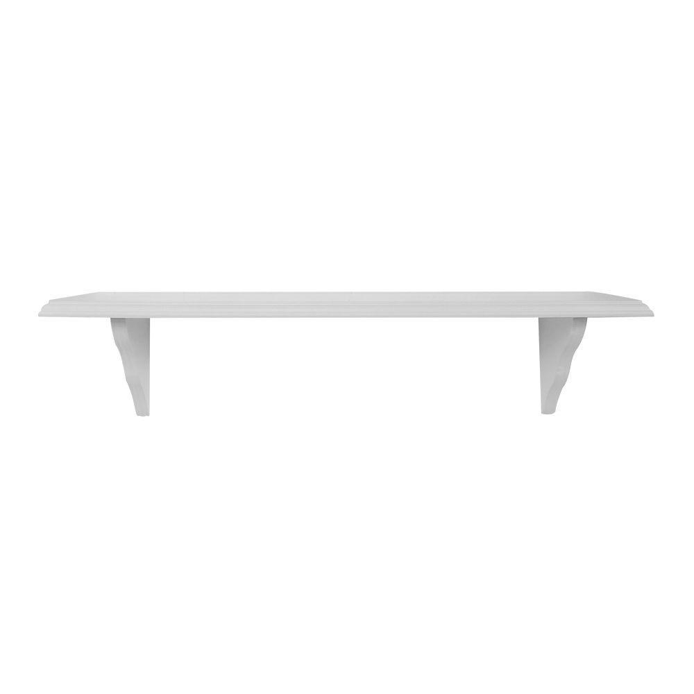 23 in. L x 7.5 in. W Profile White Shelf Kit