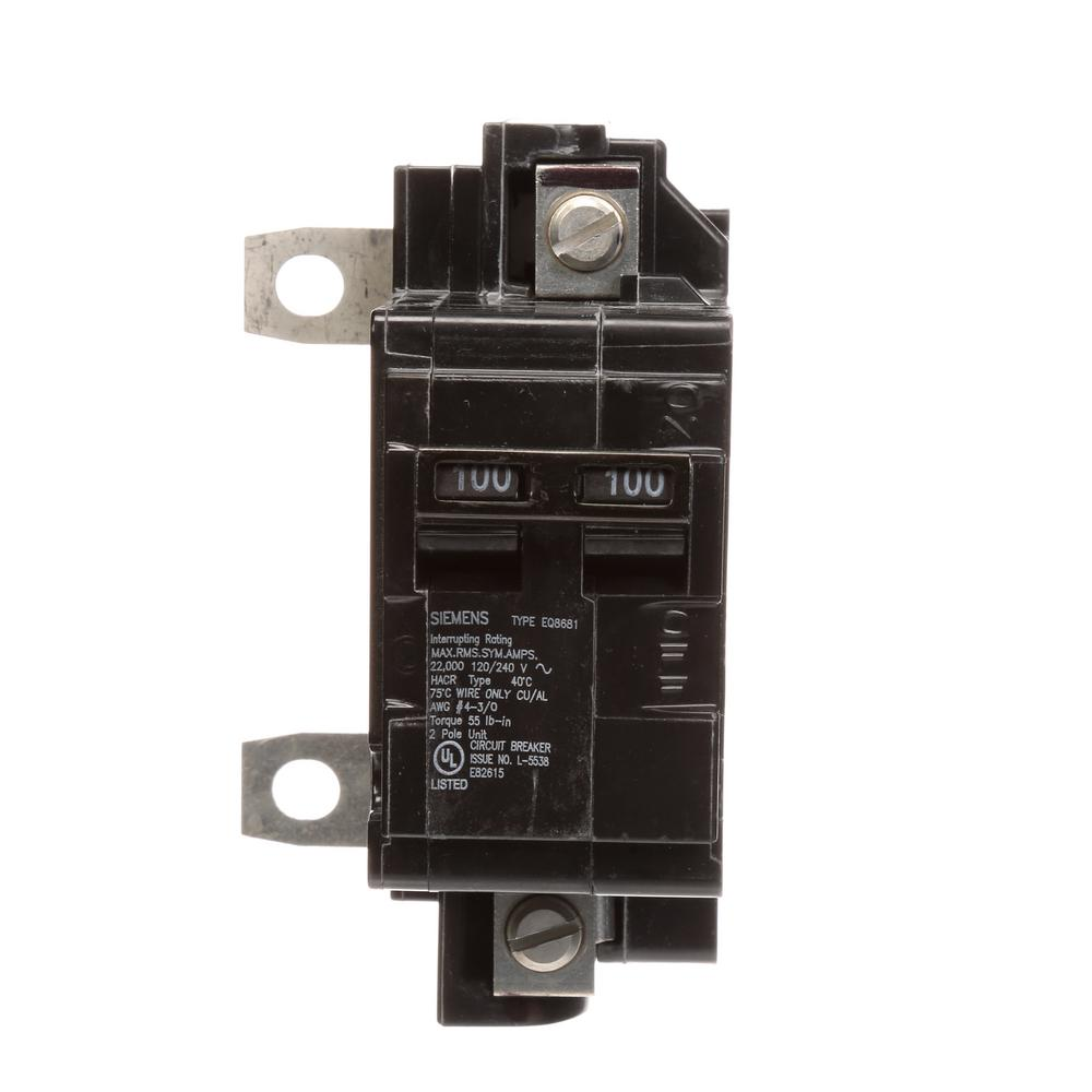 Siemens 100 Amp Main Breaker Conversion Kit-MBK100A - The Home Depot