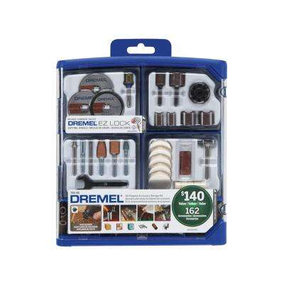 Rotary Tool Accessory Kit for Cutting, Sanding, Polishing, Grinding and Cleaning (162-Piece)