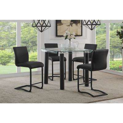Gordias Black PU Counter Height Chair