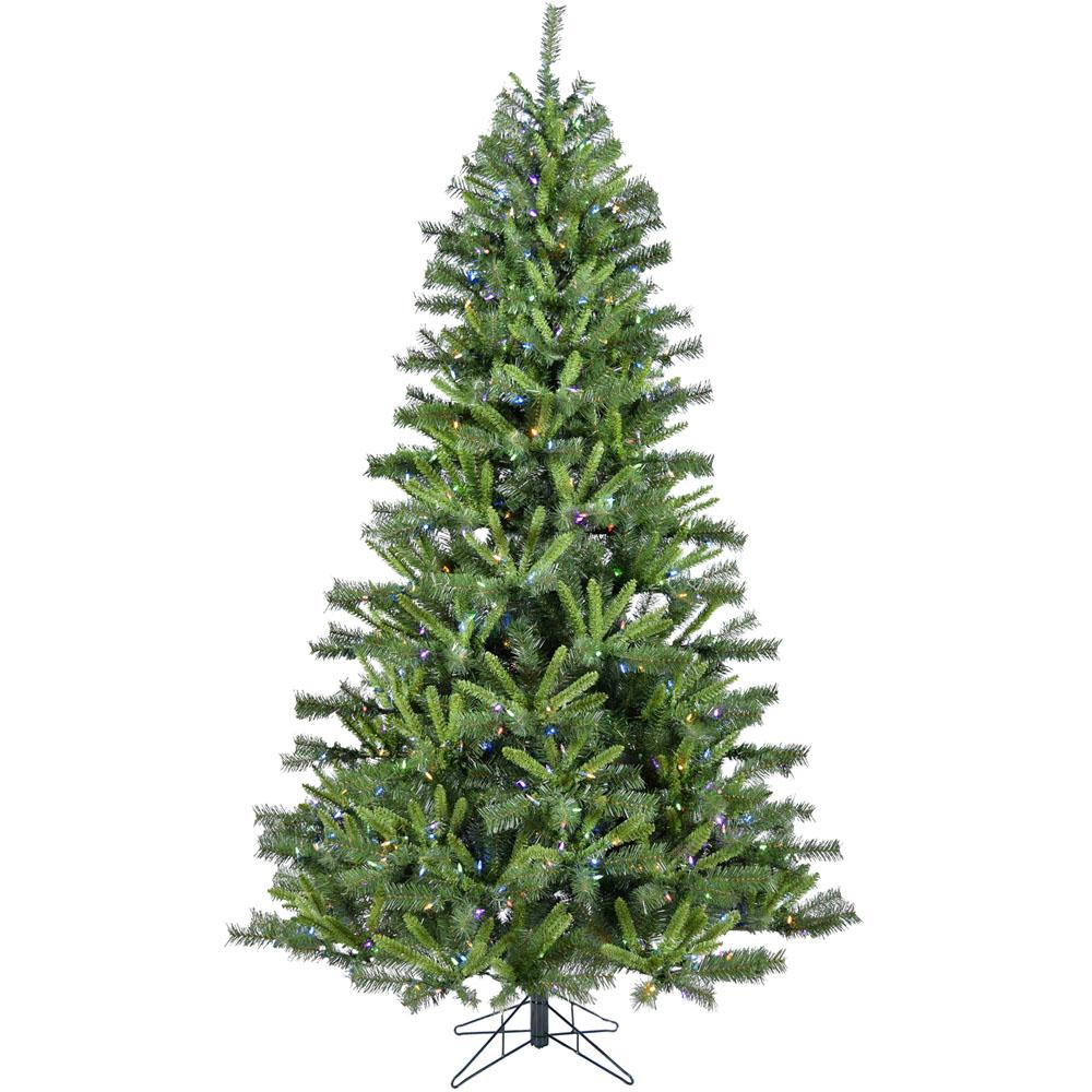 christmas time 65 ft norway pine artificial christmas tree with multi color led string