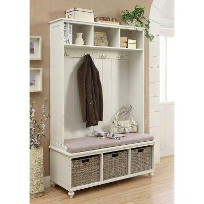 Amelia Wooden Wall Hutch in White