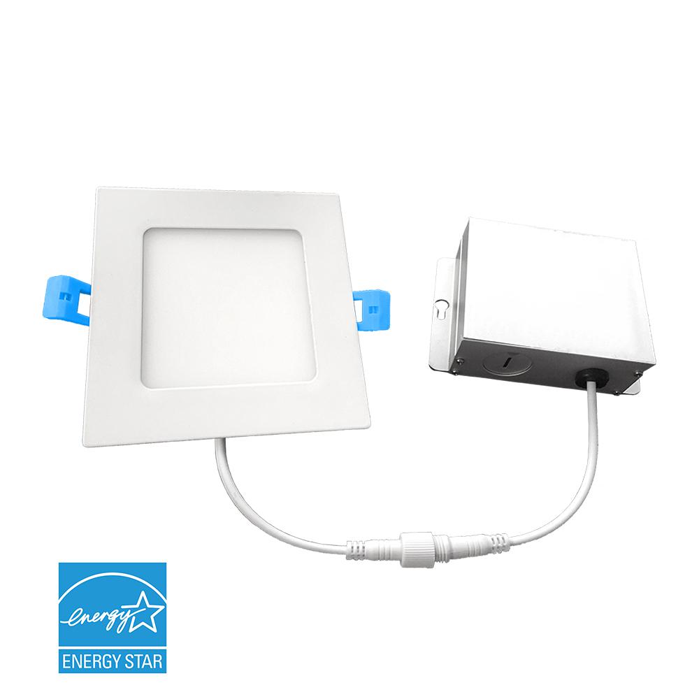 Euri Lighting 6 in. 5000K New Construction or Remodel IC Rated Canless Integrated LED Recessed Kit for Shallow Ceiling