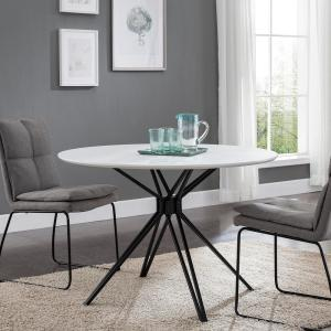 Southern Enterprises Talta Black and White Round Dining ...