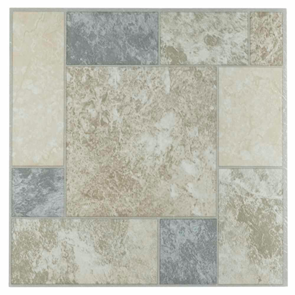 TrafficMASTER Carrara Marble 18 In. X 18 In. Peel And