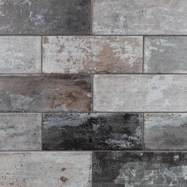 Take Home Tile Sample - Chateau Gris 6 in. x 15-3/4 in. Ceramic Floor and Wall