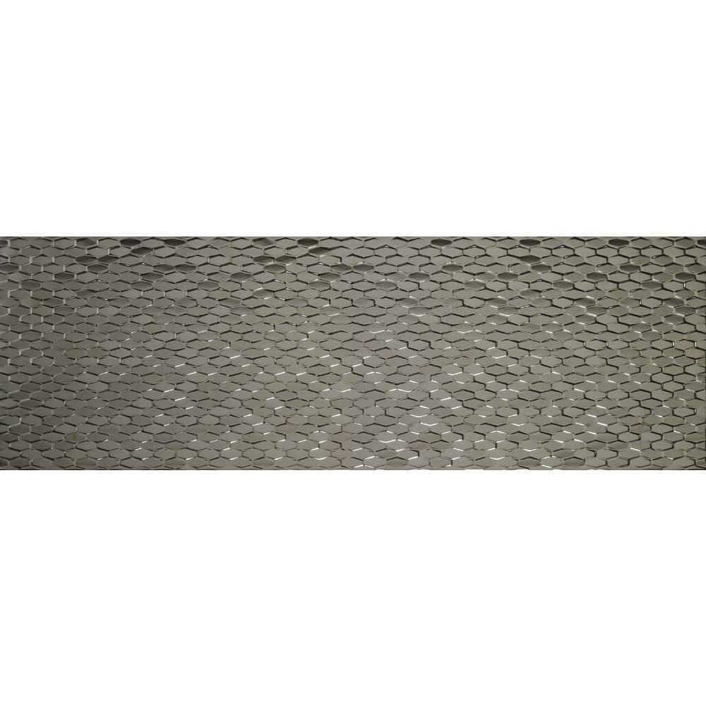 Artwork Hexagon Silver 12 in. x 35 in. Ceramic Wall Tile (11.63 sq. ft. / case)