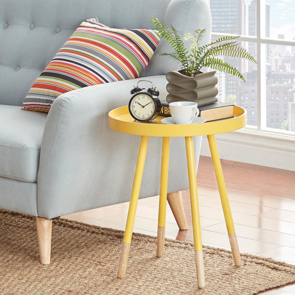 HomeSullivan Hanna Yellow Tray Side Table 40701-04Y