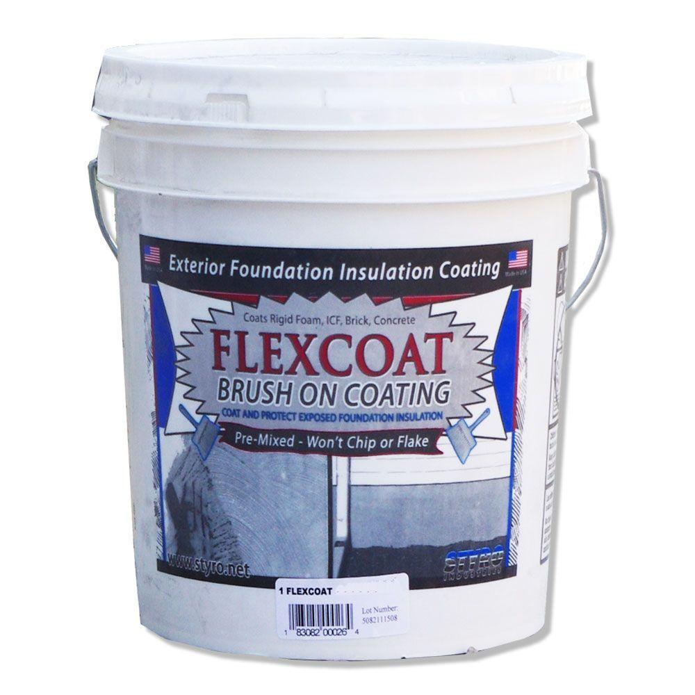 STYRO Industries 5 Gal. Concrete Grey FlexCoat Brush on Foundation Coating