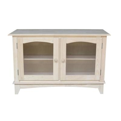 International Concepts 48 in. Unfinished Wood TV Stand Fits TVs Up to 50 in. with Storage Doors