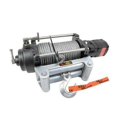 12,000 lb. Capacity H12000 Versatile Hydraulic Winch with 100 ft. Steel Cable