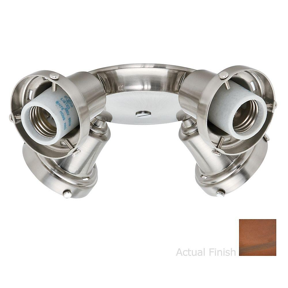 Casablanca 4-Light Weathered Copper Integrated Thumbscrew Fitter Ceiling Light Kit-DISCONTINUED