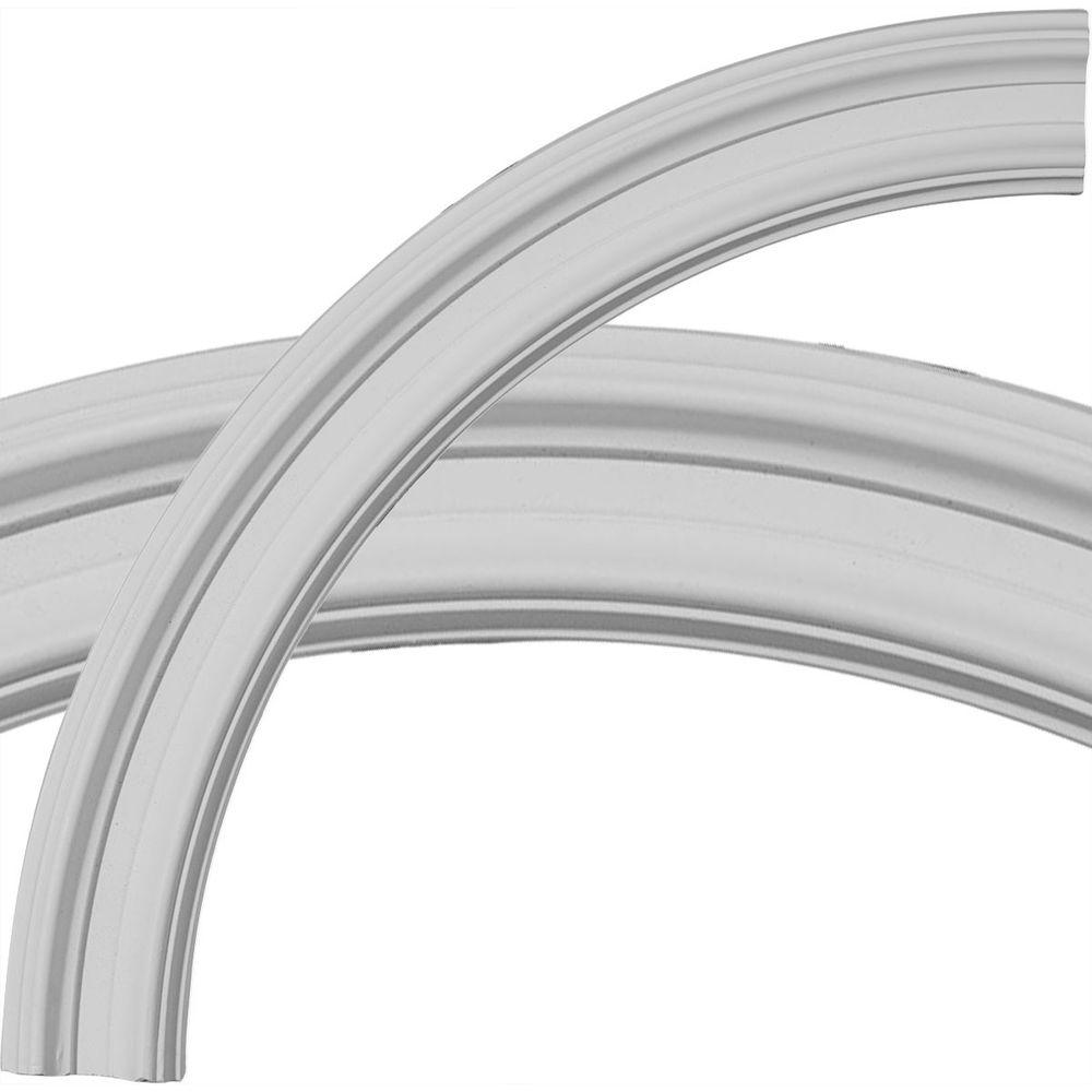 Ekena Millwork 24 in. Claremont Ceiling Ring (1/4 of Complete Circle)