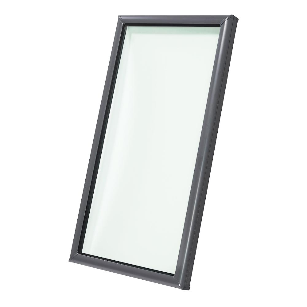 Velux 22 1 2 In X 46 Fixed Curb Mount Skylight With Tempered Low E3 Gl Fcm 2246 0005 The Home Depot