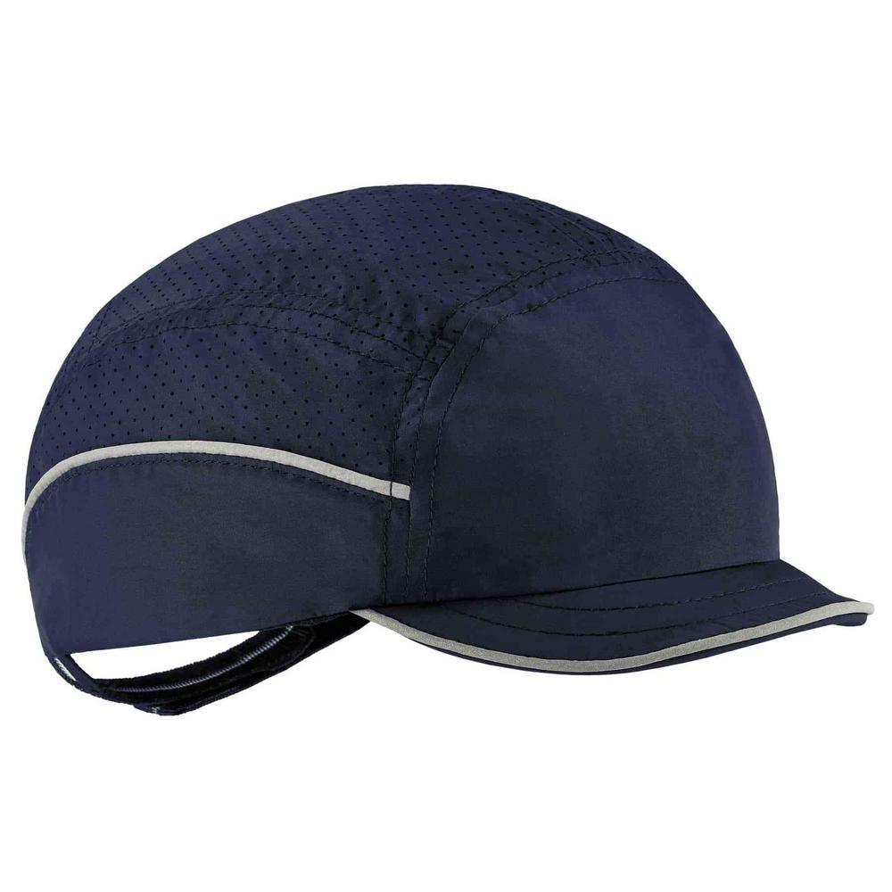 Skullerz 8955 Micro Brim Navy Lightweight Bump Cap Hat
