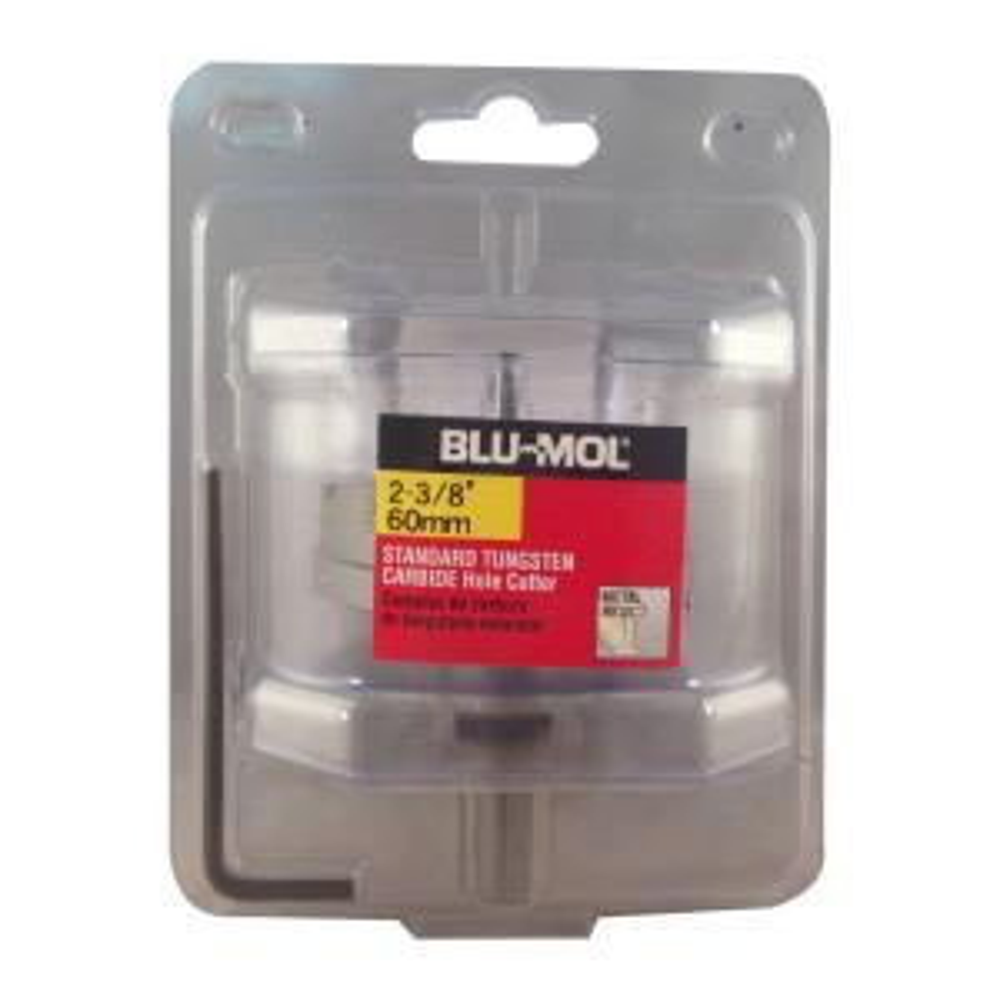 BLU-MOL 2-3/8 inch Standard Tungsten Carbide Hole Cutter by BLU-MOL