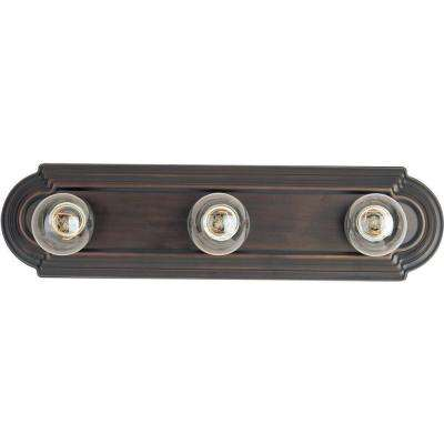 Essentials 3-Light Oil-Rubbed Bronze Bath Vanity Light
