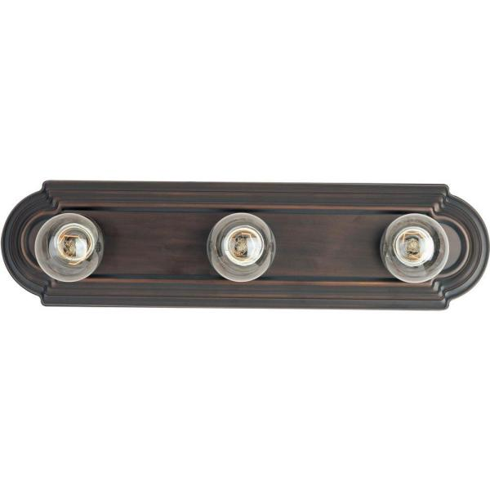 Essentials 3-Light Oil-Rubbed Bronze Bath Vanity Light