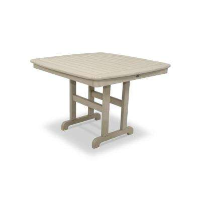 Yacht Club 44 in. Sand Castle Patio Dining Table