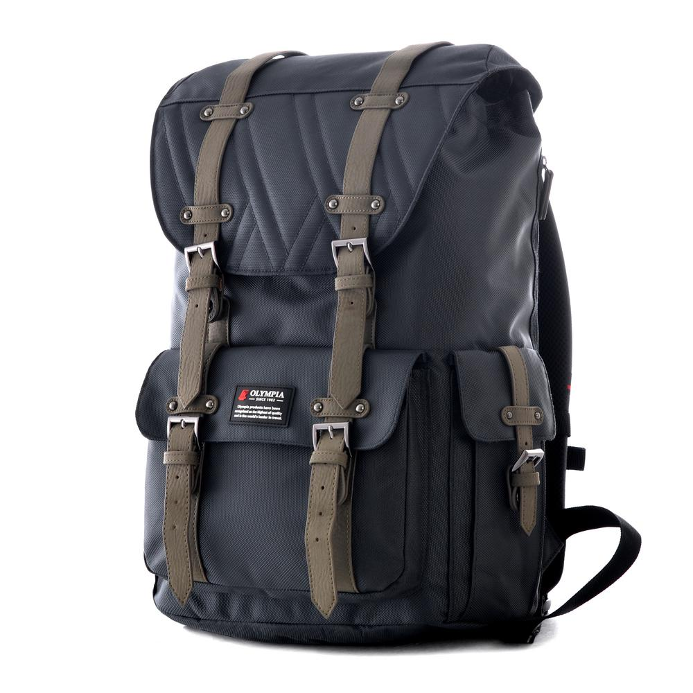 b0ac0514d87c Olympia USA HOPKINS 18 in. Gray Backpack-BP-5006-GY - The Home Depot