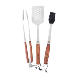 Pit Boss 3-Piece Wood Handle BBQ Grill Tool Set by Pit Boss