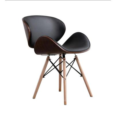 Lorient Black Synthetic Leather Lounge Chair