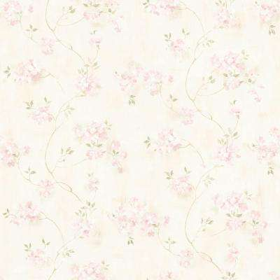 Pink Floral Wallpaper Home Decor The Home Depot