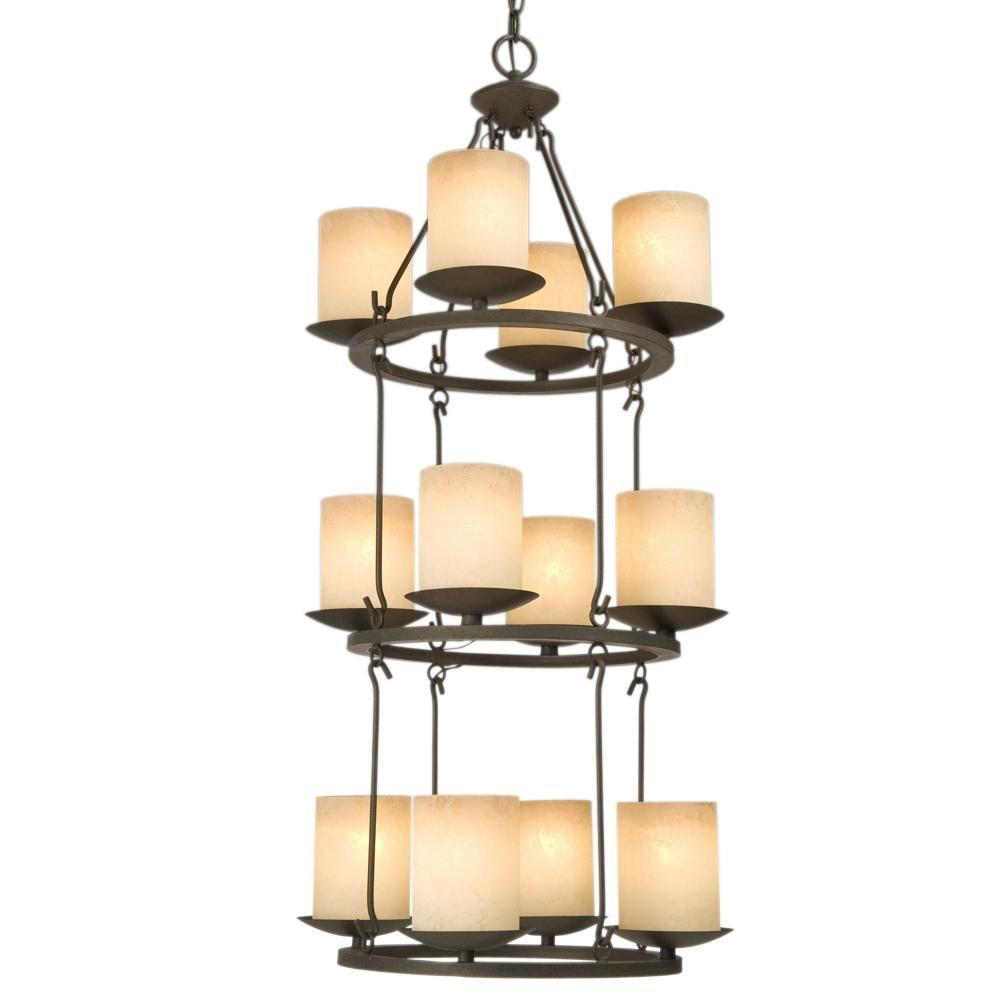Filament Design Negron 12-Light Aged Bronze Incandescent Chandelier