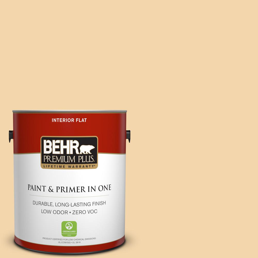 1 gal. #PPU6-08 Pale Honey Zero VOC Flat Interior Paint